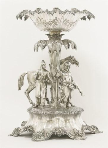 Lot 96-A Victorian silver centrepiece