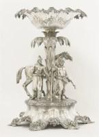 96 - A Victorian silver centrepiece