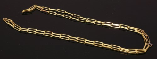 Lot 486 - An 18ct gold flat section fetter link chain by Andrew Grima