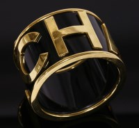 40 - A Chanel flat section wide bangle