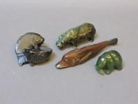 Lot 66 - Three hardstone animals
