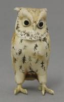 Lot 62 - An early 20th century bone owl