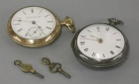 Lot 34 - An Elgin rolled gold open faced pocket watch