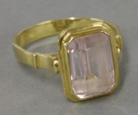 Lot 10 - An Italian emerald cut synthetic sapphire ring