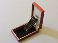 Lot 75 - A Cartier black lacquer lighter