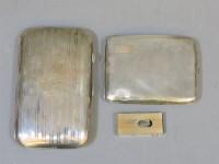 Lot 63 - A silver cigar case