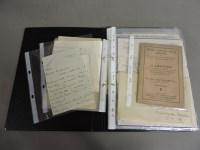 Lot 86 - Ephemera relating to the Scudamore family