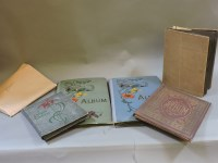 Lot 97 - Six albums of late 19th century and later postcards