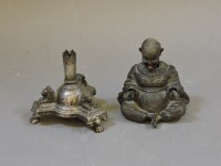 Lot 81 - A 19th century Chinese metal figure