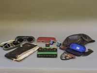 Lot 68 - A vintage leather motor car driver's skull cap and sunglasses