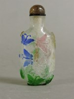 Lot 55 - A Chinese overlaid glass scent bottle and stopper
