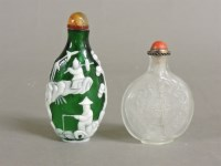 Lot 57 - A Chinese clear glass scent bottle and stopper
