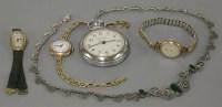 Lot 48 - A 9ct gold ladies mechanical bracelet watch