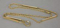 Lot 8 - A 9ct gold filed Byzantine link chain
