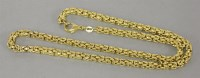 Lot 28 - A 9ct gold hollow Byzantine link chain