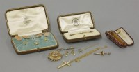 Lot 32 - A pair of 9ct gold oval cufflinks