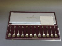 Lot 69 - A set of twelve modern silver spoons 'The Tichborne Spoons Collection'