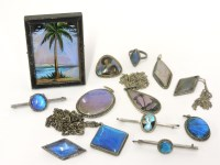 Lot 46 - Assorted butterfly wing jewellery