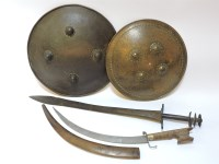 154 - Two talwar curved swords