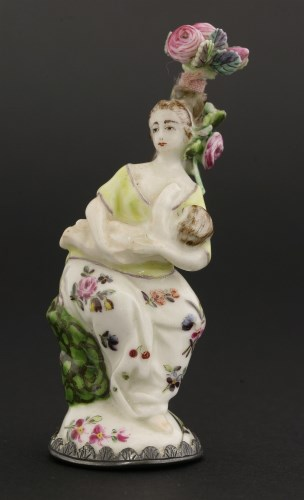 25 - A Chelsea porcelain scent bottle