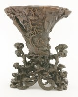 218 - An exceptional rhinoceros horn Libation Cup