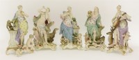 17 - Five Meissen figures 'The Senses'