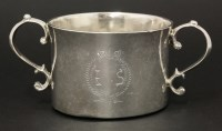 201 - A Commonwealth/Charles II Irish silver two-handled porringer