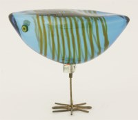 372 - *A Pulcini glass bird