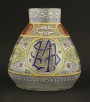 Lot 8 - An Islamic-style gilded and enamelled Bohemian glass vase