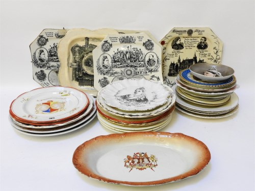 Lot 171-A collection of Victorian commemorative pottery plates