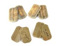Lot 4 - A pair of 9ct gold cufflinks