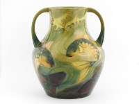 381 - A Moorcroft 'Carp' twin handled vase