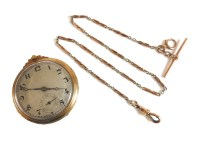 Lot 17 - A 9ct gold open faced pocket watch