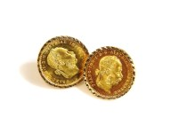 Lot 48 - A pair of gold earrings