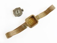 Lot 3 - A 9ct gold ladies mechanical bracelet watch
