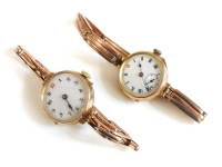 Lot 5 - A 9ct gold ladies mechanical watch