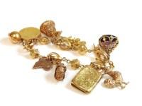 Lot 46 - An Italian gold fancy link charm bracelet