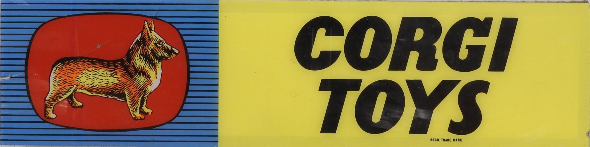Lot 466 - A Corgi Toys Advertising Panel