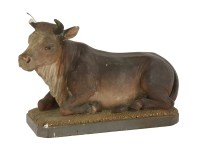 Lot 92 - A French painted plaster model of a cow