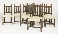 Lot 51 - A set of eight oak dining chairs