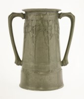 Lot 64 - A Liberty's 'Tudric' pewter two-handled vase