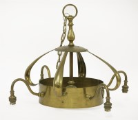 Lot 30 - A brass ceiling lamp