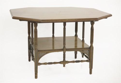 Lot 42 - An octagonal mahogany centre table