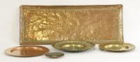 Lot 19 - Arts and Crafts copper wares: a John Pearson copper tray