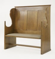 Lot 47 - An Arts and Crafts oak hall bench