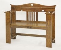 Lot 54 - An Arts and Crafts oak hall seat