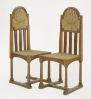 Lot 55 - A pair of oak side chairs