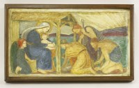 Lot 56 - Ellen Mary Rope (1855-1934) THE NATIVITY a polychrome plaster relief
