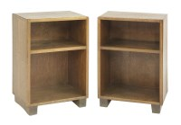 Lot 72 - A pair of Arts and Crafts open bedside tables