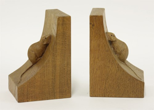 126 - A pair of Robert 'Mouseman' Thompson bookends